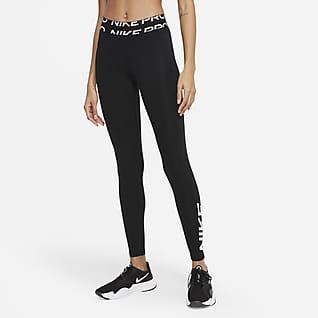 Nike Pro Dri-FIT Grafik-Leggings mit halbhohem Bund für Damen