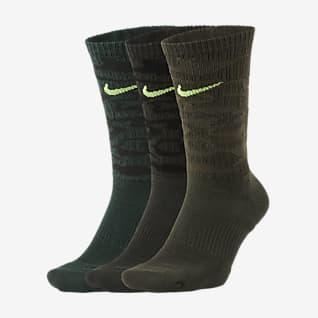 Nike Everyday Plus Cushioned Klasyczne skarpety treningowe (3 pary)