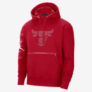 Chicago Bulls Courtside Men's Jordan NBA Fleece Pullover Hoodie