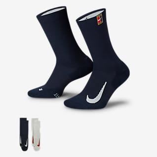 NikeCourt Multiplier Cushioned Chaussettes de tennis mi-mollet (2 paires)
