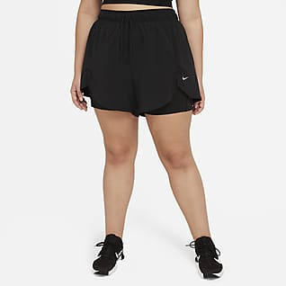 Nike Flex Essential Dámské tréninkové kraťasy 2 v 1 (větší velikost)