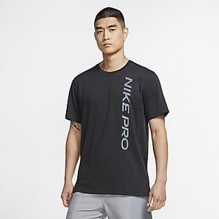Nike Pro Haut à manches courtes pour Homme