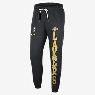 Los Angeles Lakers Courtside Calças de lã cardada NBA Nike para homem