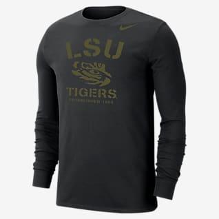 Nike College Dri-FIT (LSU) Men's Long-Sleeve T-Shirt