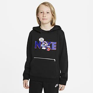 Nike Dri-FIT x Space Jam: Nový začátek Mikina s kapucí pro větší děti