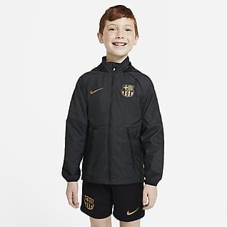 FC Barcelona Chamarra de fútbol para niños talla grande
