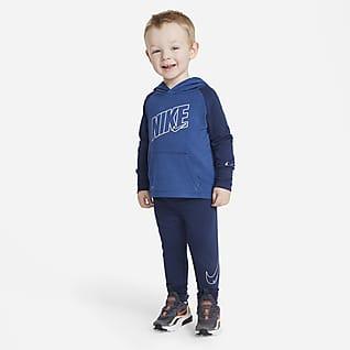 Nike Dri-FIT Conjunto de sudadera con capucha y pantalones de entrenamiento para bebé (12-24M)