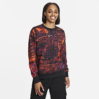 Nike Sportswear Fleecetröja för dans med rund hals för kvinnor