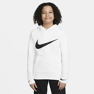 Nike Sportswear Swoosh Pullover-hættetrøje til store børn (drenge)