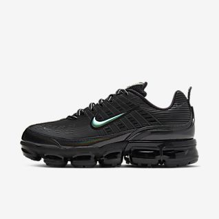 Offerta scarpa Nike Air 2019 gialla con baffo nero e grigio