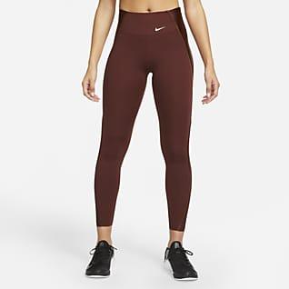 Nike Dri-FIT One Luxe Icon Clash 7/8-legging met print en halfhoge taille voor dames