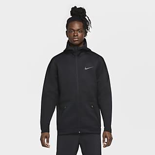 Nike Ανδρική μπλούζα προπόνησης με κουκούλα και φερμουάρ