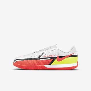 Nike Jr. Phantom GT2 Academy IC Fotbollssko för inomhusplan/futsal/street för barn/ungdom