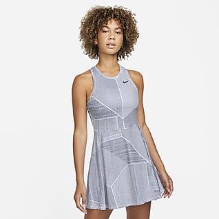 NikeCourt Dri-FIT Advantage Robe de tennis imprimée pour Femme