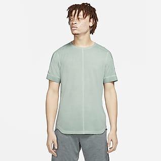 Nike Yoga Speziell gefärbtes Kurzarm-Oberteil für Herren