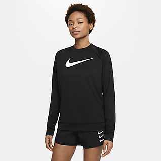 Nike Swoosh Run Camiseta de cuello redondo de running para mujer