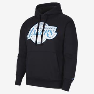 Los Angeles Lakers City Edition Logo Nike NBA-s belebújós, kapucnis férfipulóver