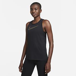 Nike Dri-FIT Damska koszulka treningowa bez rękawów z nadrukiem