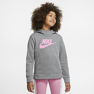 Nike Sportswear Pullover-hættetrøje til piger