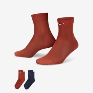 Nike Women's Sheer Ankle Socks (2 Pairs)