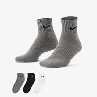 Nike Everyday Cushioned Meias de treino pelo tornozelo (3 pares)