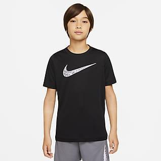 Nike Dri-FIT Trophy เสื้อเทรนนิ่งเด็กโตมีกราฟิก (ชาย)