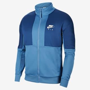 Nike Air เสื้อแจ็คเก็ตโพลีเอสเตอร์ถักผู้ชาย