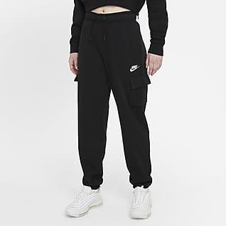 Nike Sportswear Essentials Dámské cargo kalhoty se středně vysokým pasem