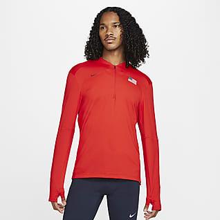 Nike Dri-FIT Team USA Element Prenda superior de running de medio cierre para hombre