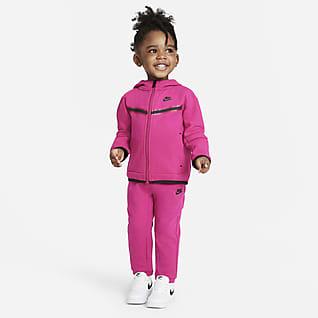 Nike Sportswear Tech Fleece Zestaw rozpinana bluza z kapturem i spodnie dla niemowląt (12-24 M)
