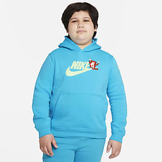 Nike Sportswear Club Big Kids' (Boys') Graphic Pullover Hoodie (Extended Size)