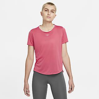 Nike Dri-FIT One Kurzarm-Oberteil mit Standardpassform für Damen