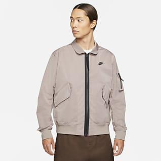 Nike Sportswear Premium Essentials เสื้อแจ็คเก็ตบอมเบอร์ไม่มีซับในผู้ชาย
