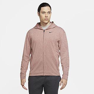 Nike Dri-FIT Felpa da yoga con cappuccio e zip a tutta lunghezza - Uomo