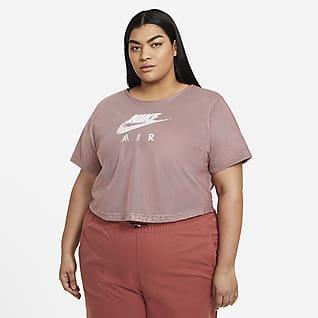 Nike Air Playera de manga corta de malla para mujer (talla grande)