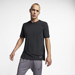 Nike Dri-FIT Prenda para la parte superior de entrenamiento de yoga de manga corta para hombre