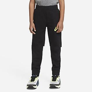 Nike Pantalones de entrenamiento con bloques de color para niños talla pequeña