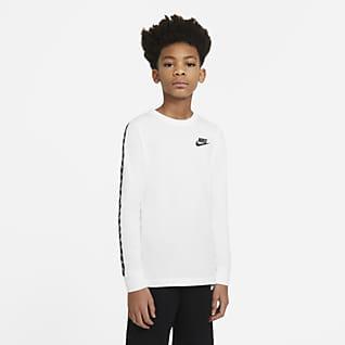 Nike Sportswear Playera de manga larga para niño talla grande