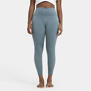 Nike Yoga Leggings a 7/8 de cintura subida para mulher (tamanho Plus)