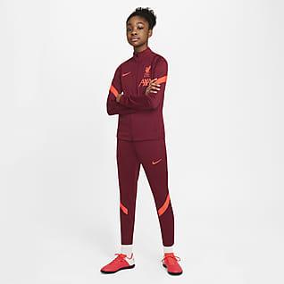 Liverpool FC Strike Nike Dri-FIT-fodboldtracksuit til store børn