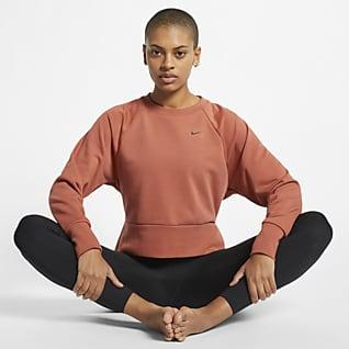 Nike Dri-FIT Langärmliges Yoga-Trainingsoberteil für Damen