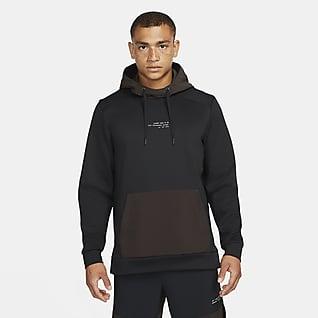 Nike Dri-FIT Hoodie pullover de treino em lã cardada para homem