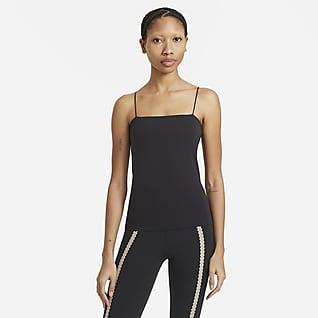 Nike Yoga Luxe Eyelet Damska koszulka bez rękawów z wbudowanym stanikiem