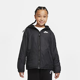Nike Sportswear Chamarra con forro de tejido Fleece para niños talla grande