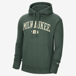 Milwaukee Bucks Heritage Men's Nike NBA Pullover Hoodie