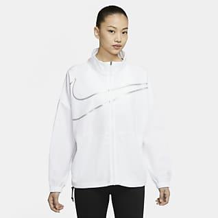 Nike Pro 女子梭织全长拉链开襟训练上衣