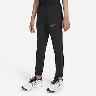 Nike Dri-FIT Υφαντό παντελόνι προπόνησης για μεγάλα αγόρια