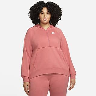 Nike Sportswear Club Fleece Sudadera con gorro para mujer (talla grande)