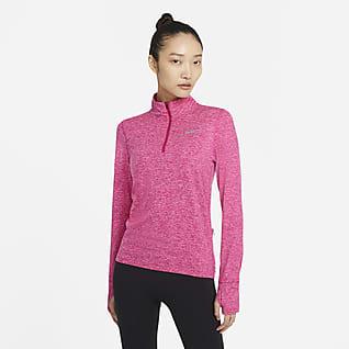 Nike Løbeoverdel med lynlås i halv længde til kvinder
