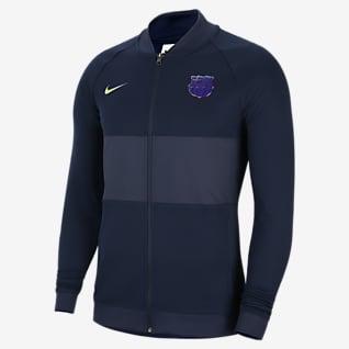 FC Barcelona Fußball-Track-Jacket mit durchgehendem Reißverschluss für Herren